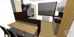3D návrh kuchyně do L